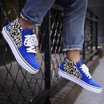 Supreme VANS Leopard fashion casual shoes-1