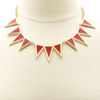 Spike Leather Collar Necklace