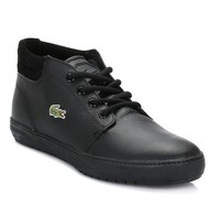 Lacoste Mens Black Ampthill Terra Trainers