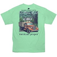 Merican Proper Southern Roots Truck Pigment Dyed T-Shirt