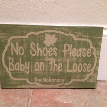 Personalized wooden Distressed Baby no by SwirlyTwirlyDesigns