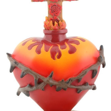 Sacred Heart with Thorns Day of the Dead Statue 6H - T81520