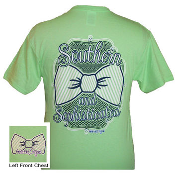 Girlie Girl Originals Southern & Sophisticated Bow Mint Green Bright T Shirt