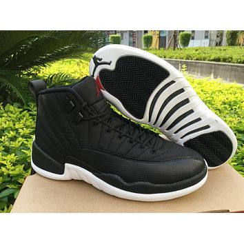 Air Jordan 12 Black Nylon AJ 12 Men Basketball Shoes