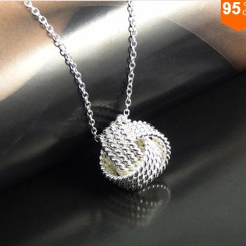 925 silver,Rose gold Women Pendant collares Rose Ball Slide Fashion Gold Chain necklaces accessories jewerly = 1946802180
