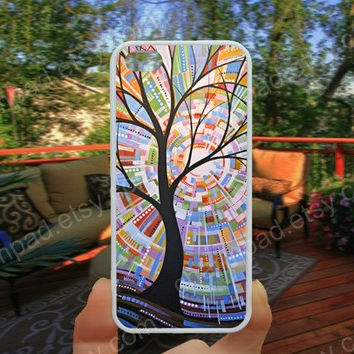 Life trree  painting phone case 4/4s case iphone 5/5s/5c case samsung galaxy s3/s4 case galaxy S5 case Waterproof gift case 493