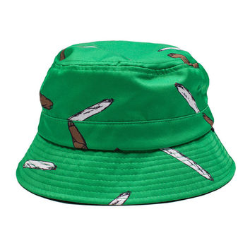 BLUNT JOINT BUCKET HAT KELLY GREEN – golfwang