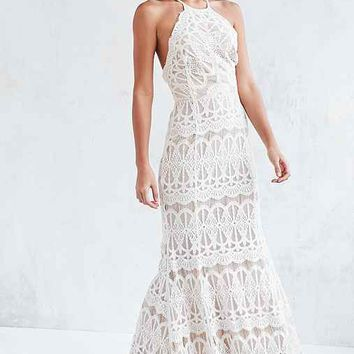 8750d12a99d Glamorous Lace Halter Maxi Dress from Urban Outfitters