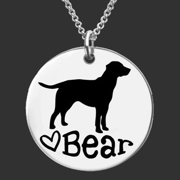 Labrador Retriever Dog Personalized Necklace
