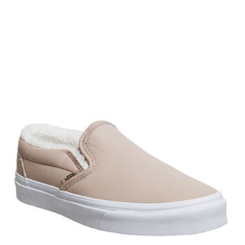 Vans Vans Classic Slip On Mahogany Rose True White Shearling - Hers trainers