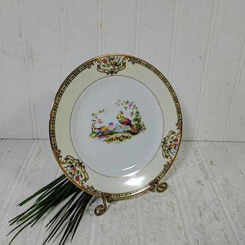 "Bread or Dessert Plate in Noritake Morimura Chelsea Pattern Dinnerware Small Individual Fine China Bread / Dessert 6 1/2"" Plate 12 Available"
