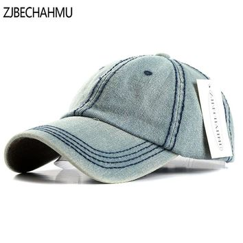 Trendy Winter Jacket ZJBECHAHMU Hats Fashoin solid Denim Adjustable Vintage Baseball Caps For Men Women Spring Summer Autumn Hip Hop Snapback Hats AT_92_12