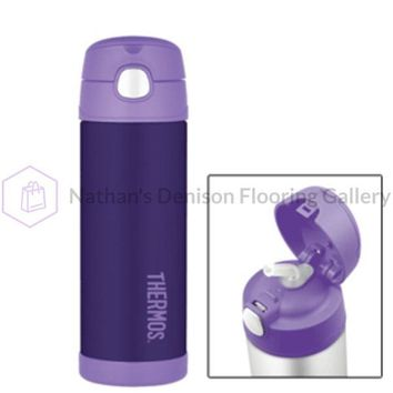 Thermos FUNtainer™ Stainless Steel, Insulated Straw Bottle - Purple - 16 oz.