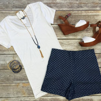 Preppy Polka Dot Shorts