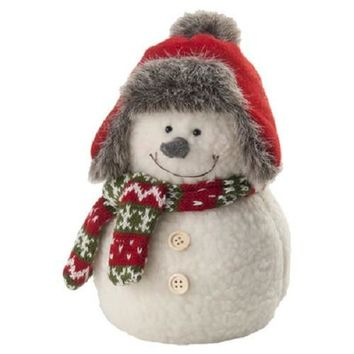 "Holiday Figurines 9"" Pudgy Snowman"