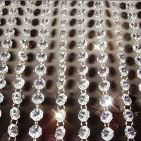9Meters Garland Strand Hanging Crystal Glass Bead Curtain Diamond Chains Party Tree Wedding Centerpiece Decor