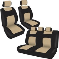 BDK Universal Full Set of Deluxe Low Back Car Seat Covers, Universal Fit for Car, Truck, SUV or Van