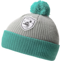 TRUKFIT Pom  Grey & Green Beanie at Zumiez : PDP