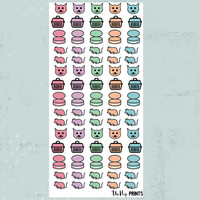 Cat stickers, Pet Stickers, Cat Planner Stickers, Animal Stickers, Kitten Stickers, Cat Food Stickers, Vet Stickers, Planner Stickers (#179)