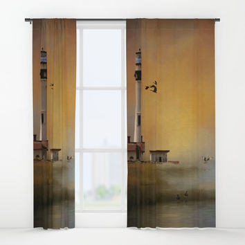 Homeward Bound Window Curtains by Theresa Campbell D'August Art