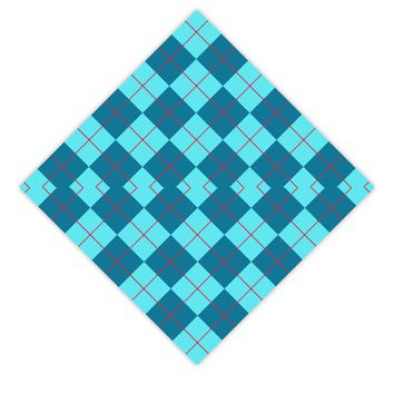 Blue Argyle AOP Adult Square Bandana All Over Print by TooLoud