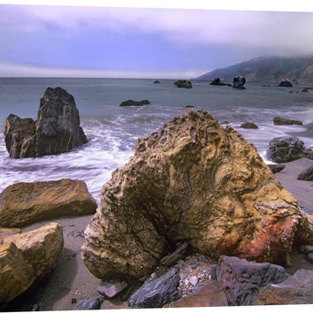 Rocks on Kirk Creek Beach, Big Sur, California