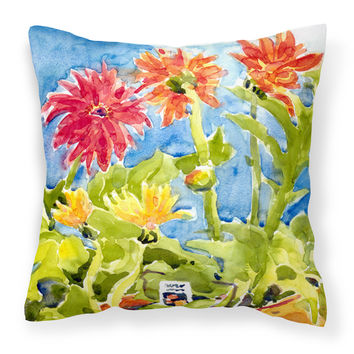 Flower - Gerber Daisies   Canvas Fabric Decorative Pillow