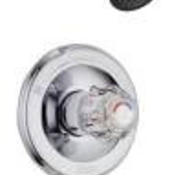 Delta Classic Tract Pack Tub And Shower Trim Kit Chrome Clear Knob Handle
