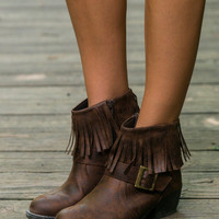 The Nikita Booties, Brown