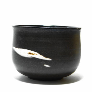 Dark brown stoneware tea bowl, chawan, yunomi with marbled clay - Naked earth series, agate tea bowl,  decorative bowl, father's day gift
