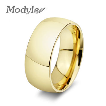 fashion Gold-Color wedding engagement rings for women and men