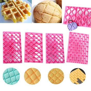 Plastic Lace Biscuits Cupcake Cutter Round Rectangle Shape Moulds Cake Bread Sugar Fondant Mold Cookie Decorating Kitchen Tools