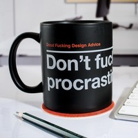 Don't Procrastinate Mug at Firebox.com