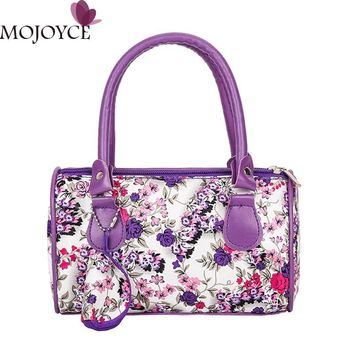 Mini Flowers Women Handbags  Leather Top-Handle Bag Female Tote Shoulder Bags