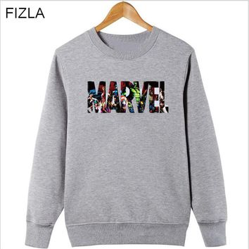 2018 Newest Super Hero Marvel Sweatshirts Fashion Cotton Men Hoodies Marvel Cool Printed Sweatshirts streetwear Men Clothing