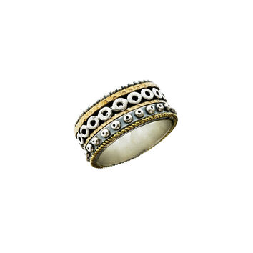 Borobudur Lotus Sterling Silver Bronze Ring