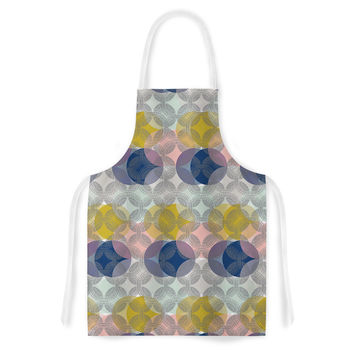 "Maike Thoma ""Retro Spring"" Blue Pink Artistic Apron"