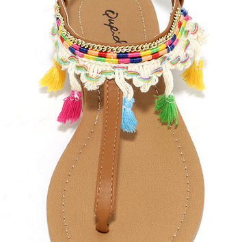 Mulatu Camel Thong Sandals