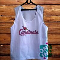 Arizona Cardinals Men's White Cotton Solid Tank Top