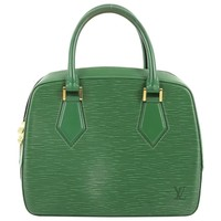 Leather handbag LOUIS VUITTON Green