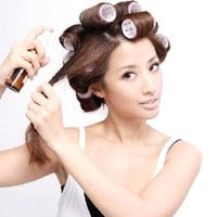 6Pcs/Set Big Self Grip Hair Rollers Cling Any Size DIY Hair Curlers Beauty Tools