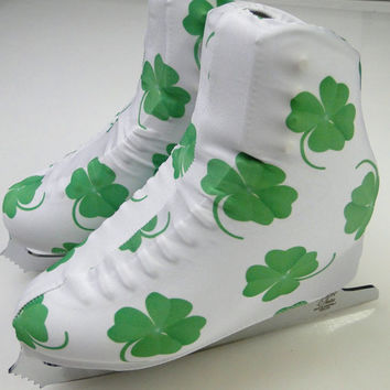 Lucky Shamrock Skate Boot Covers / Figure Skating / Ice Skating / Roller Skating