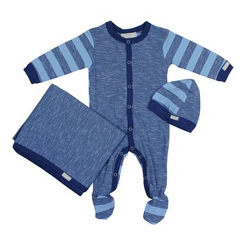 Coccoli Baby Boys' Striped Footie Set
