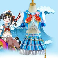 LoveLive! Love Live Yazawa Nico Navy Sailor Suit Dress Outfit Anime Cosplay Costumes