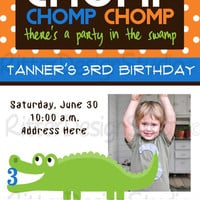 Alligator/Crocodile Birthday Invitation - Printable