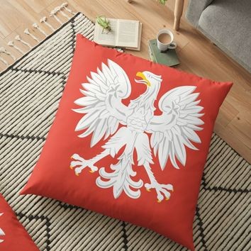 'POLAND COAT OF ARMS (1955-1980)' Floor Pillow by planetterra
