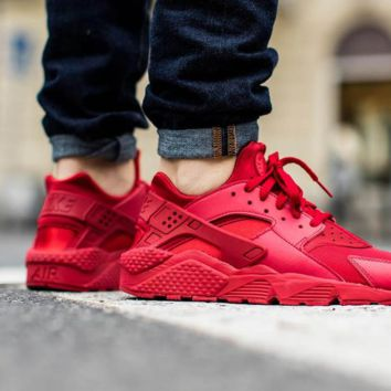 """NIKE""AIR Huarache Running Sport Casual Shoes Sneakers Red"