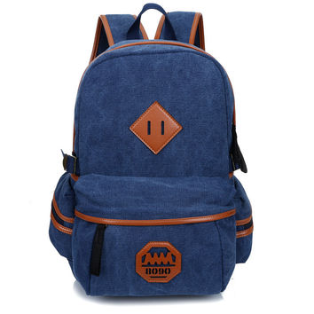 On Sale College Hot Deal Back To School Comfort Stylish England Style Vintage Outdoors Casual Canvas Big Capacity Pc Backpack [8384134727]