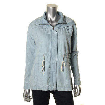 Jack Womens Chambray Hooded Anorak Jacket