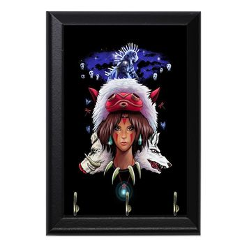 Princess Mononoke Anime Geeky Wall Plaque Key Holder Hanger